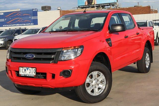 Used Ford Ranger PX XL Hi-Rider Coburg North, 2014 Ford Ranger PX XL Hi-Rider Red 6 Speed Sports Automatic Utility