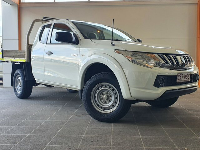 Used Mitsubishi Triton MN MY15 GLX Club Cab Brendale, 2015 Mitsubishi Triton MN MY15 GLX Club Cab White 5 Speed Manual Cab Chassis