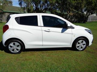 2015 Holden Barina Spark MJ MY15 CD White 5 Speed Manual Hatchback.