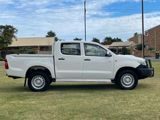 2015 Toyota Hilux KUN26R MY14 SR Double Cab White 5 Speed Automatic Utility