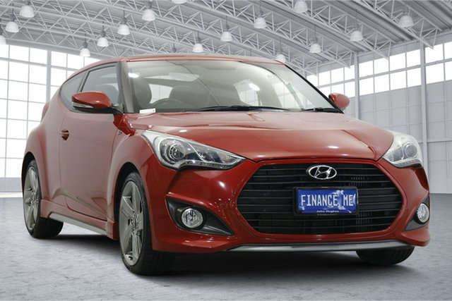 Used Hyundai Veloster FS2 SR Coupe Turbo Victoria Park, 2013 Hyundai Veloster FS2 SR Coupe Turbo Veloster Red 6 Speed Sports Automatic Hatchback