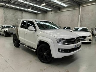 2014 Volkswagen Amarok 2H MY14 TDI420 4Motion Perm Highline White 8 Speed Automatic Utility.