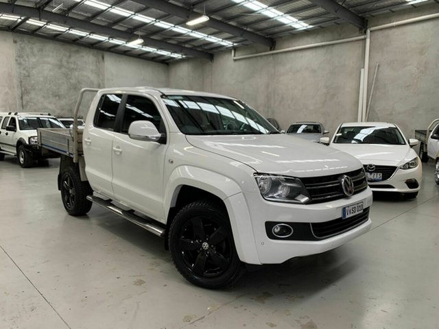 Used Volkswagen Amarok 2H MY14 TDI420 4Motion Perm Highline Coburg North, 2014 Volkswagen Amarok 2H MY14 TDI420 4Motion Perm Highline White 8 Speed Automatic Utility