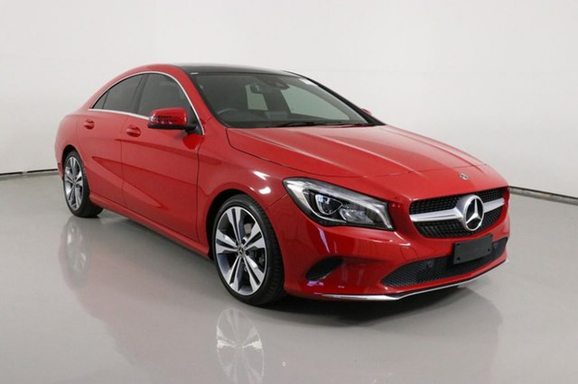 Used Mercedes-Benz CLA180 117 MY18.5 Bentley, 2018 Mercedes-Benz CLA180 117 MY18.5 Red 7 Speed Automatic Coupe