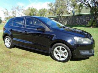 2010 Volkswagen Polo 6R 77TSI Comfortline Black 6 Speed Manual Hatchback.