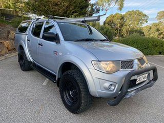 2013 Mitsubishi Triton MN MY13 GLX Double Cab 4x2 Silver 5 Speed Manual Utility.