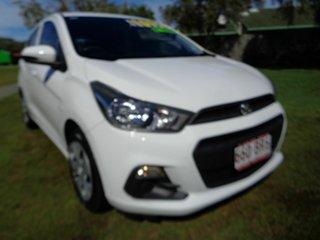 2015 Holden Barina Spark MJ MY15 CD White 5 Speed Manual Hatchback