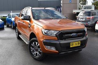 2018 Ford Ranger PX MkII 2018.00MY Wildtrak Double Cab Orange 6 Speed Sports Automatic Utility.