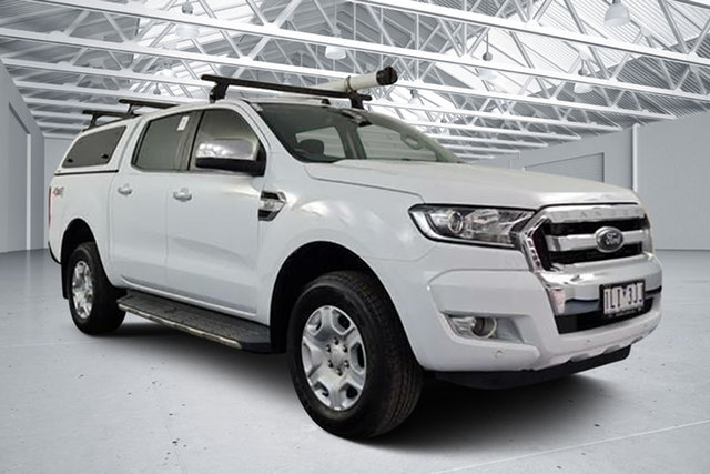 Used Ford Ranger PX MkII MY17 XLT 3.2 (4x4) Altona North, 2017 Ford Ranger PX MkII MY17 XLT 3.2 (4x4) Frozen White 6 Speed Automatic Dual Cab Utility
