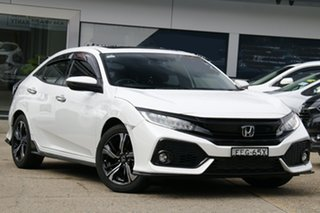 2019 Honda Civic 10th Gen MY20 RS White 1 Speed Constant Variable Hatchback.
