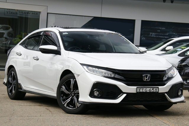 Used Honda Civic 10th Gen MY20 RS Homebush, 2019 Honda Civic 10th Gen MY20 RS White 1 Speed Constant Variable Hatchback