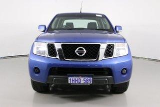 2012 Nissan Navara D40 MY12 ST (4x4) Blue 6 Speed Manual Dual Cab Pick-up.