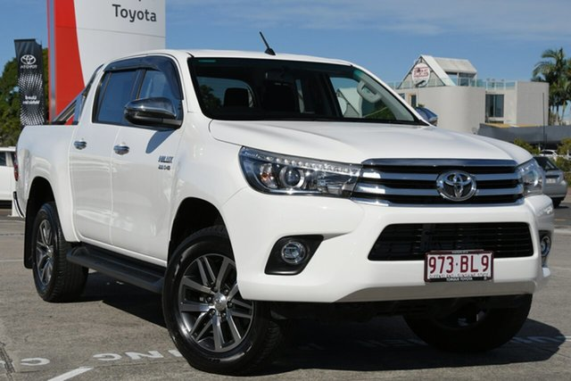 Pre-Owned Toyota Hilux GUN126R SR5 Double Cab Albion, 2018 Toyota Hilux GUN126R SR5 Double Cab Glacier White 6 Speed Sports Automatic Utility