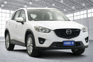 2014 Mazda CX-5 KE1021 MY14 Grand Touring SKYACTIV-Drive AWD White 6 Speed Sports Automatic Wagon.