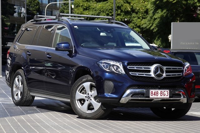 Used Mercedes-Benz GLS-Class X166 807MY GLS350 d 9G-Tronic 4MATIC Newstead, 2017 Mercedes-Benz GLS-Class X166 807MY GLS350 d 9G-Tronic 4MATIC Blue 9 Speed Sports Automatic