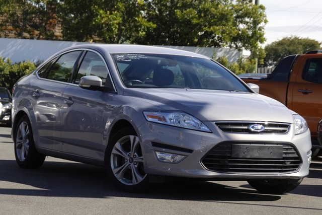 Used Ford Mondeo MC Zetec PwrShift EcoBoost Mount Gravatt, 2014 Ford Mondeo MC Zetec PwrShift EcoBoost Silver 6 Speed Sports Automatic Dual Clutch Hatchback
