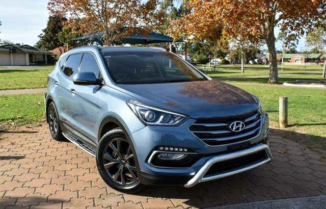 Used Hyundai Santa Fe DM3 MY17 30 2WD Special Edition Ingle Farm, 2016 Hyundai Santa Fe DM3 MY17 30 2WD Special Edition Blue 6 Speed Sports Automatic Wagon