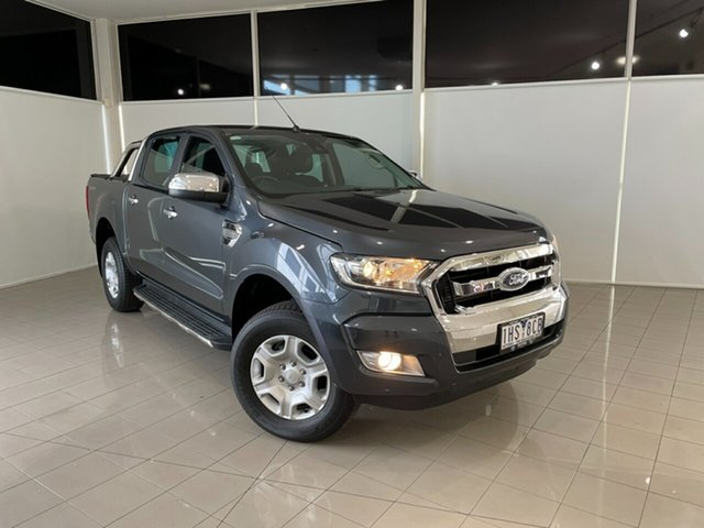 Used Ford Ranger PX MkII XLT Double Cab 4x2 Hi-Rider Deer Park, 2016 Ford Ranger PX MkII XLT Double Cab 4x2 Hi-Rider Grey 6 Speed Sports Automatic Utility