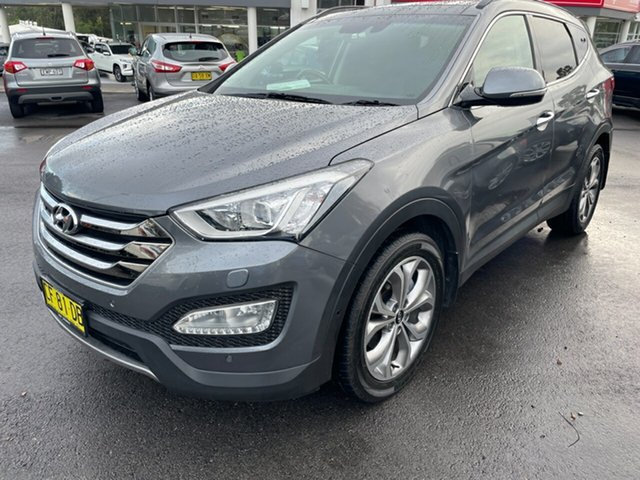Used Hyundai Santa Fe DM2 MY15 Highlander Maitland, 2015 Hyundai Santa Fe DM2 MY15 Highlander Grey 6 Speed Sports Automatic Wagon
