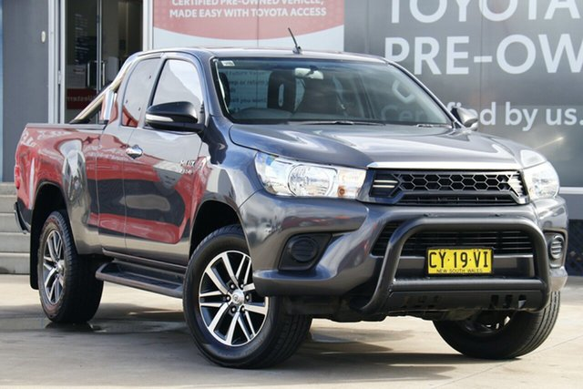 Pre-Owned Toyota Hilux GUN126R 4x4 Guildford, 2016 Toyota Hilux GUN126R 4x4 Graphite 6 Speed Manual Extracab