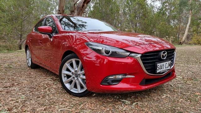 Used Mazda 3 BM5438 SP25 SKYACTIV-Drive Astina Nuriootpa, 2016 Mazda 3 BM5438 SP25 SKYACTIV-Drive Astina Red 6 Speed Sports Automatic Hatchback