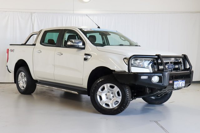 Used Ford Ranger PX MkII XLT Double Cab Wangara, 2015 Ford Ranger PX MkII XLT Double Cab White 6 Speed Manual Utility