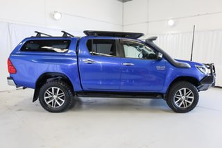 2016 Toyota Hilux GUN126R SR5 Double Cab Blue 6 Speed Manual Utility.