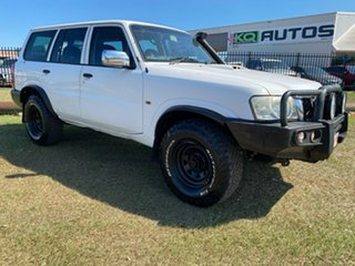 2006 Nissan Patrol GU IV MY05 DX White 5 Speed Manual Wagon.