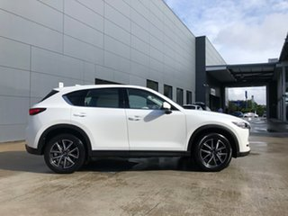 2021 Mazda CX-5 KF4WLA GT SKYACTIV-Drive i-ACTIV AWD Snowflake White 6 Speed Sports Automatic Wagon.