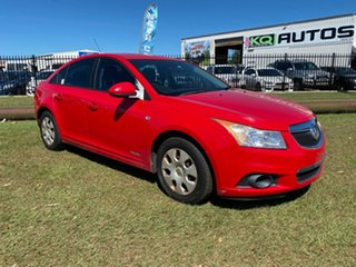 2011 Holden Cruze JH Series II MY11 CD Red 6 Speed Sports Automatic Sedan.