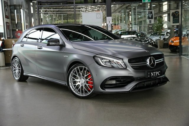Used Mercedes-Benz A-Class W176 808+058MY A45 AMG SPEEDSHIFT DCT 4MATIC North Melbourne, 2018 Mercedes-Benz A-Class W176 808+058MY A45 AMG SPEEDSHIFT DCT 4MATIC Grey 7 Speed