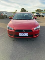 2013 Mitsubishi Lancer CJ MY14 ES Red 6 Speed Constant Variable Sedan.