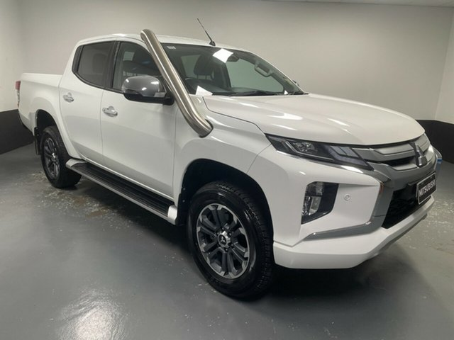 Used Mitsubishi Triton MR MY20 GLS Double Cab Hamilton, 2019 Mitsubishi Triton MR MY20 GLS Double Cab White 6 Speed Manual Utility