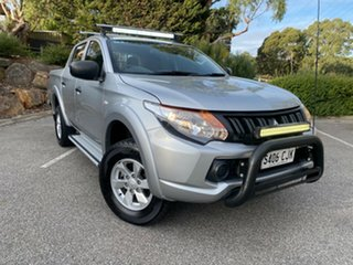 2016 Mitsubishi Triton MQ MY16 GLX+ Double Cab Silver 5 Speed Sports Automatic Utility.