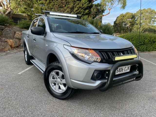 Used Mitsubishi Triton MQ MY16 GLX+ Double Cab Totness, 2016 Mitsubishi Triton MQ MY16 GLX+ Double Cab Silver 5 Speed Sports Automatic Utility