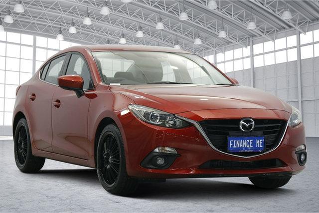 Used Mazda 3 BM5238 SP25 SKYACTIV-Drive Victoria Park, 2015 Mazda 3 BM5238 SP25 SKYACTIV-Drive Soul Red 6 Speed Sports Automatic Sedan