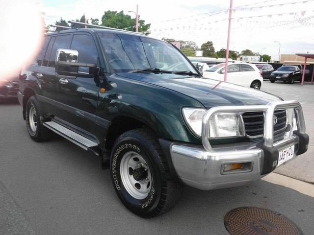Used Toyota Landcruiser FZJ105R GXL Margate, 2000 Toyota Landcruiser FZJ105R GXL Green 4 Speed Automatic Wagon