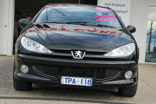 2005 Peugeot 206 CC Black 5 Speed Manual Cabriolet.