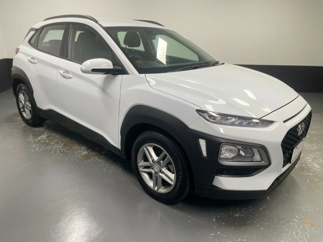 Used Hyundai Kona OS.2 MY19 Active 2WD Hamilton, 2019 Hyundai Kona OS.2 MY19 Active 2WD White 6 Speed Sports Automatic Wagon