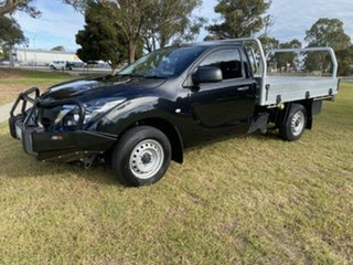 2017 Mazda BT-50 MY16 XT (4x2) Black 6 Speed Manual Cab Chassis.