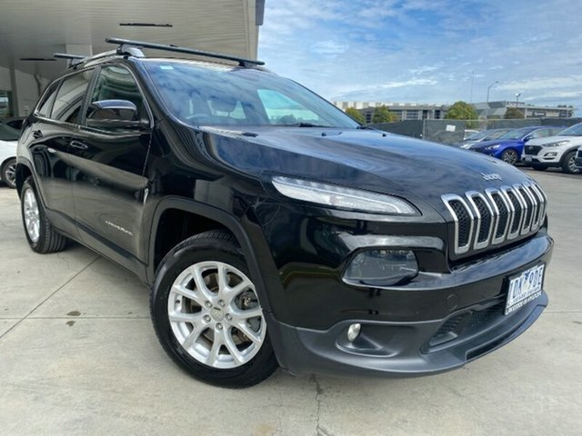 Used Jeep Cherokee KL Longitude Ravenhall, 2014 Jeep Cherokee KL Longitude Black 9 Speed Sports Automatic Wagon