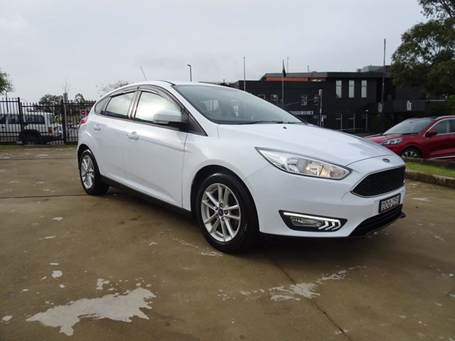 Used Ford Focus LZ Trend Nowra, 2016 Ford Focus LZ Trend Frozen White 6 Speed Automatic Hatchback