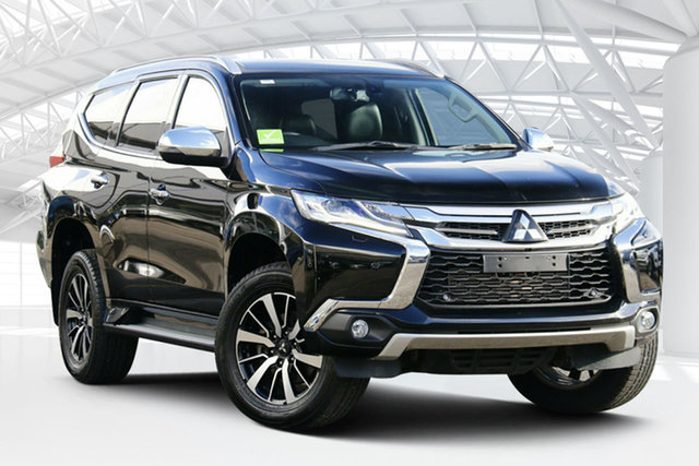 Used Mitsubishi Pajero Sport MY16 Exceed (4x4) 7 Seat Moorebank, 2017 Mitsubishi Pajero Sport MY16 Exceed (4x4) 7 Seat Pitch Black & Sterling Silver 8 Speed