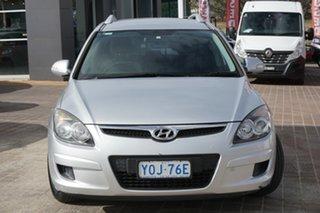 2010 Hyundai i30 FD MY10 SX cw Wagon Silver 4 Speed Automatic Wagon.