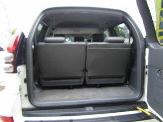 2003 Toyota Landcruiser Prado GRJ120R Grande White 4 Speed Automatic Wagon.