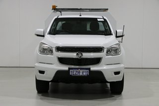 2013 Holden Colorado RG LX (4x4) White 5 Speed Manual Cab Chassis.