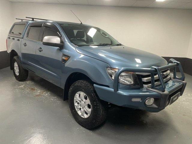 Used Ford Ranger PX XLS Double Cab Hamilton, 2014 Ford Ranger PX XLS Double Cab Blue 6 Speed Sports Automatic Utility