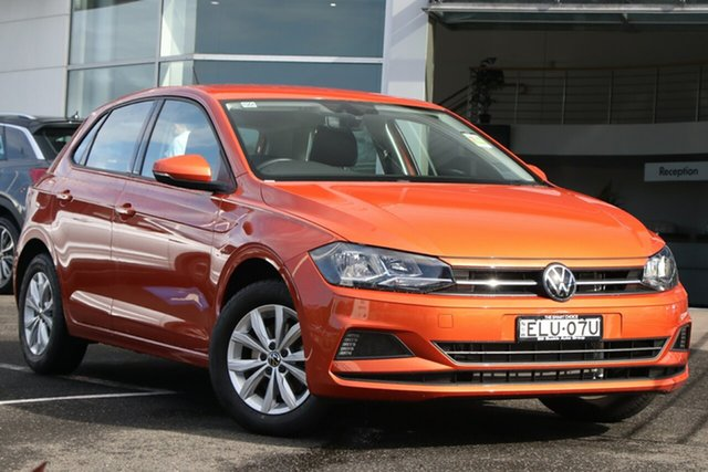 Demo Volkswagen Polo AW MY20 85TSI DSG Comfortline Brookvale, 2020 Volkswagen Polo AW MY20 85TSI DSG Comfortline Energetic Orange 7 Speed