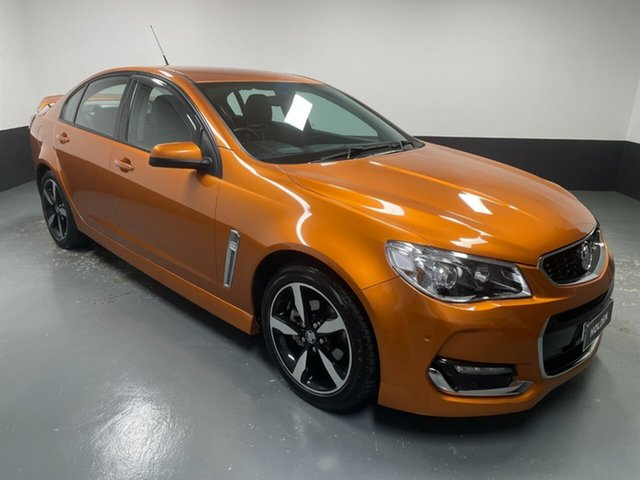 Used Holden Commodore VF II MY17 SV6 Hamilton, 2017 Holden Commodore VF II MY17 SV6 Orange 6 Speed Sports Automatic Sedan
