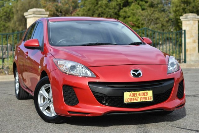 Used Mazda 3 BL10F2 MY13 Neo Enfield, 2013 Mazda 3 BL10F2 MY13 Neo Red 6 Speed Manual Hatchback